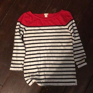 J. Crew Boat-Neck, Long-Sleeved Shirt Size XS EUC